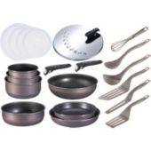 Batterie de cuisine TEFAL Ingenio PTFE Gris Violine 20 pièces
