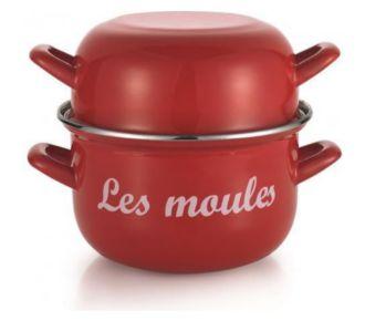 Baumalu Marmite à moules 18cm rouge