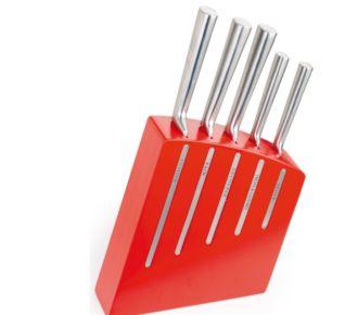 DubostKimono Rouge + 5 couteaux tout Inox