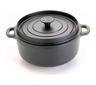 Invicta Cocotte en fonte émaillée 22cm noire
