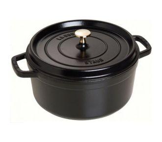 Staub Cocotte ronde fonte émaillée 26cm noir