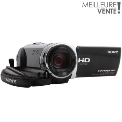 Caméscope Mémoire flash HD SONY Pack HDR-CX200 noir + FT + SD