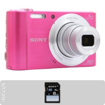 Sony pack dsc w810 rose sd 8go appareil photo compact - Boulanger appareil photo numerique ...