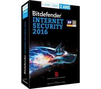 Bitdefender Internet Security 2016 - 2 Ans 3 Postes