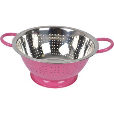 Ustensile de cuisine passoire essentielb 24 cm rose chez for Ustensile cuisine rose