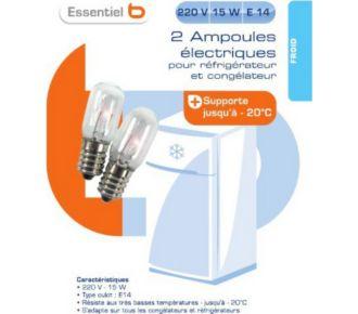 Essentielb Ampoule refrigérateur 220V 15W E14