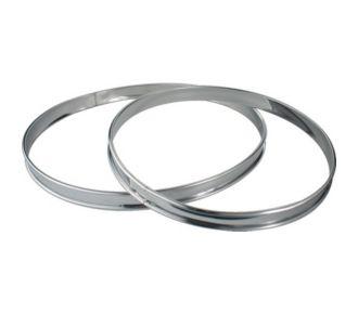 Essentielb 2 cercles à tarte Inox 24 et 28 cm