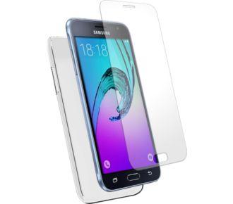 Essentielb Samsung J3 transparente + PE Verre T