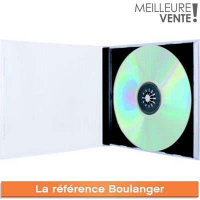 Boite à CD/DVD ESSENTIELB 10 CD noir slim simple