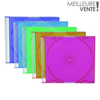 Boite à CD/DVD ESSENTIELB 25 CD couleur slim simple