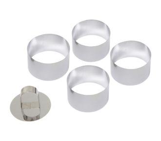 Essentielb 4 cercles métal Ø 7.5+1 poussoir