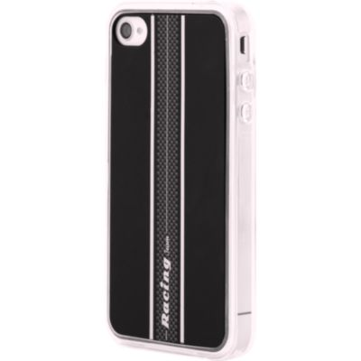 Protection pour iPhone BLUEWAY iPhone 4/4 S Racing noire/rouge