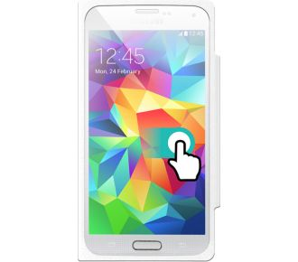 Color Block Galaxy S5 folio Touch blanc