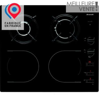 Table mixte table mixte induction gaz brandt ti1013b chez - Table de cuisson mixte gaz et induction ...