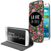 Etui EVETANE livre La vie en rose Galaxy S4 mini
