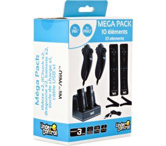 Under Control Mégapack noir Manettes Wii/Wii U