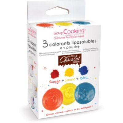 """Colorant alimentaire Scrapcooking 3 colorants liposolubles en poudre,""""__ A CREER"""","""