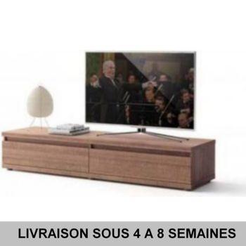 sofamobili meuble tv couleur ch ne brun contempora chez boulanger. Black Bedroom Furniture Sets. Home Design Ideas