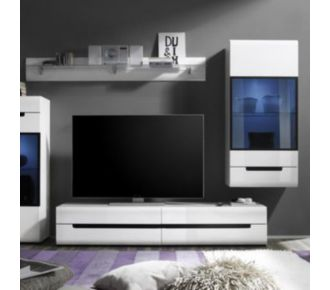 Sofamobili Meuble TV blanc laqué design ORFA (2 di