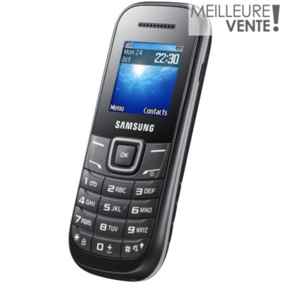 t l phone portable sans abonnement samsung e1200 noir ls blister. Black Bedroom Furniture Sets. Home Design Ideas
