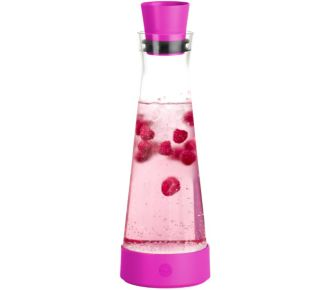 Emsa FLOW SLIM en verre Coloris Pink City 1L
