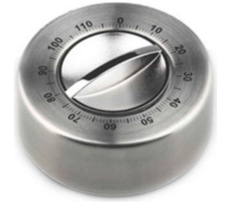 GSD Minuteur mécanique inox 120mn