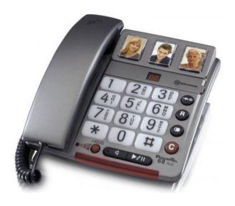 Audioline Téléphone sénior PowerTel 68 plus