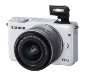 Canon EOS M10 Blanc + EF-M 15-45 Argent