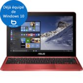 Ordinateur Portable ASUS W10 X205TA-FD0077TS Rouge