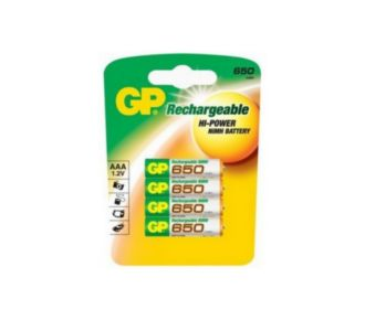 GP 4xAAA LR3 650 mAh NIM/h