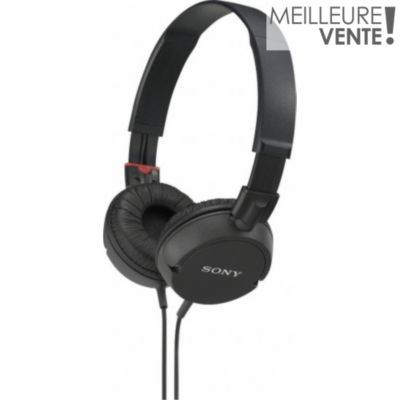 Casque / Arceau simple SONY MDRZX100 Noir