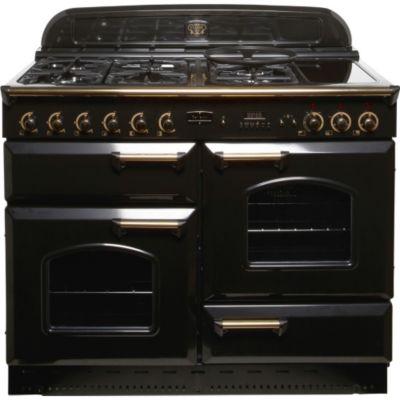 Piano de cuisson falcon clas110 noir laiton - Falcon piano cuisson ...
