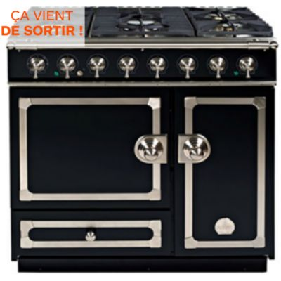 Grande cuisini re la cornue cornufe 90 df noir nickel for Prix cuisiniere la cornue