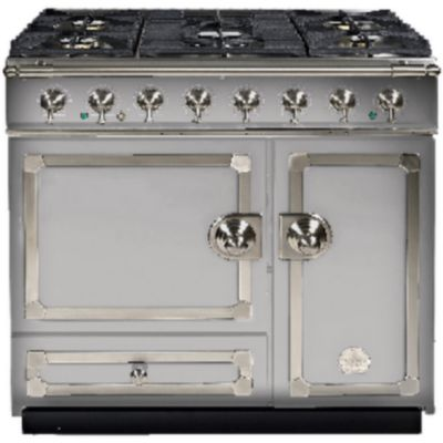 la cornue piano de cuisson gaz cornufe 90 df inox nickel electrom nager. Black Bedroom Furniture Sets. Home Design Ideas