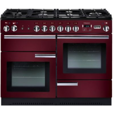 Piano de cuisson falcon prof 110 cm rouge airelle chrome - Piano de cuisson 80 cm ...