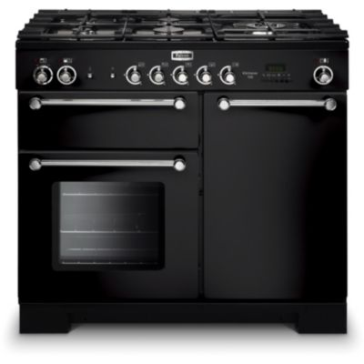 Piano de cuisson gaz FALCON KITCHENER 90 MIXTE NOIR CHROME + PLANCHA