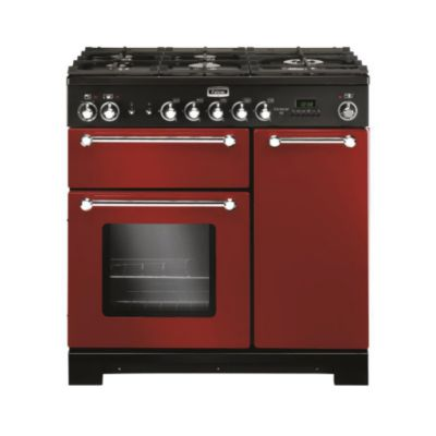 Falcon piano de cuisson gaz kitchener 90 mixte rouge - Piano de cuisson rouge ...