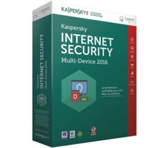 Kaspersky Internet Security 2016 (1 Poste / 1 An)