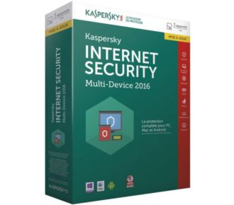 Kaspersky Internet Security 2016 3 Postes/1An MAJ