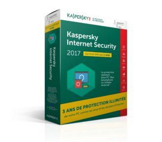 Kaspersky Internet Security 2017 (1 poste / 3 ans)