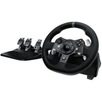 logitech g920 driving force xbox one pc simulation auto boulanger. Black Bedroom Furniture Sets. Home Design Ideas