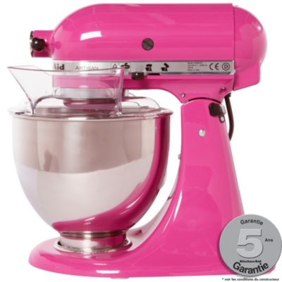 robot p tissier kitchenaid 5ksm150ps ecb rose fuschia artisan. Black Bedroom Furniture Sets. Home Design Ideas