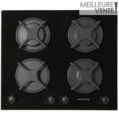 Table gaz rosieres rtv640fpn table gaz sur boulanger - Table de cuisson boulanger ...