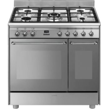 Smeg cg92x9 piano de cuisson boulanger - Piano cuisine induction ...