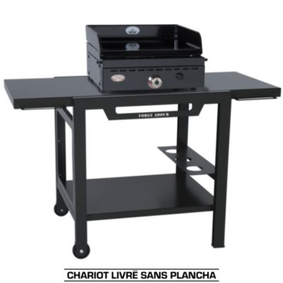 chariot forgeadour table roulante fer pour planchas 450 600 accessoire barbecue plancha sur. Black Bedroom Furniture Sets. Home Design Ideas