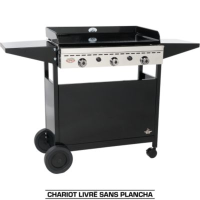 plancha gaz inox sur chariot top plancha. Black Bedroom Furniture Sets. Home Design Ideas
