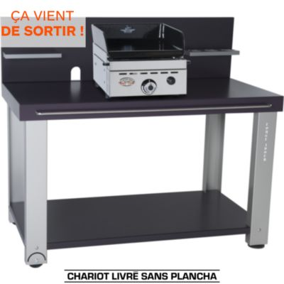 Chariot pour plancha gaz forgeadour table roulante fer pour planchas 450 600 - Chariot pour plancha gaz ...