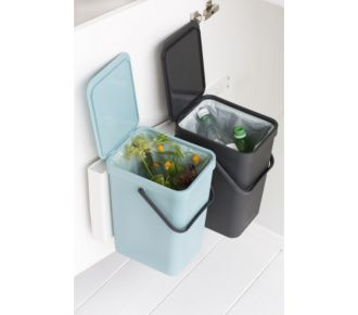 Brabantia Built-in Bin Sort & Go 2x16L Mint & Grey