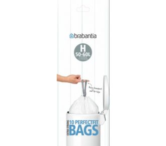 Brabantia poubelle 50 à 60L rouleaux de 10 sacs