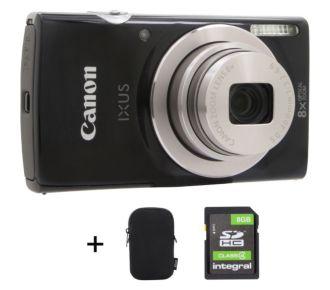 Canon Ixus 177 noir + Etui + SD 8Go